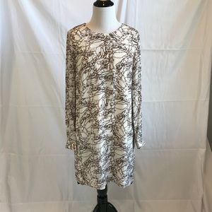 French Connection silk long sleeve dress sz 2 NWT